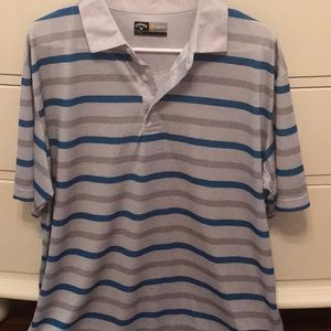 Striped Callaway opti-dri polo